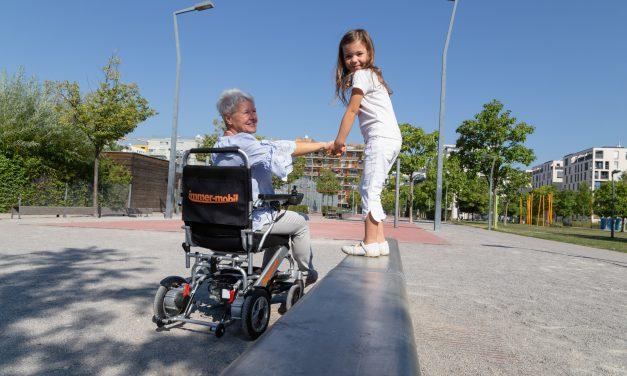 Faltbarer Elektro-Rollstuhl